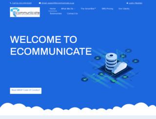 ecommunicate.co.za screenshot