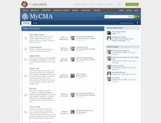 ecommunity.cmalliance.org screenshot