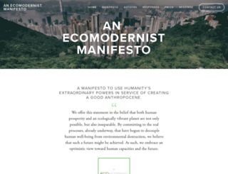 ecomodernism.org screenshot