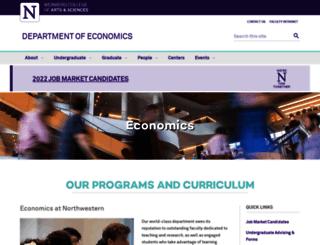 econ.northwestern.edu screenshot