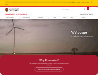 econ.ucalgary.ca screenshot