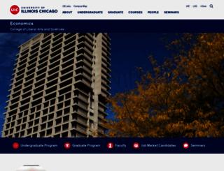 econ.uic.edu screenshot