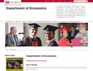 econ.unm.edu screenshot