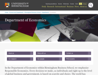 economics.bham.ac.uk screenshot
