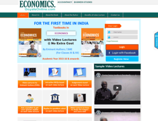 economics.goyalsonline.com screenshot