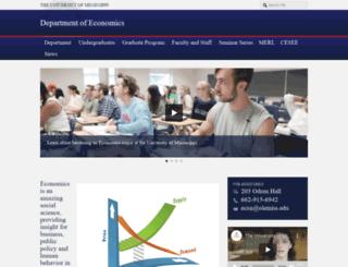 economics.olemiss.edu screenshot