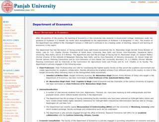 economics.puchd.ac.in screenshot