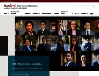 economics.stanford.edu screenshot