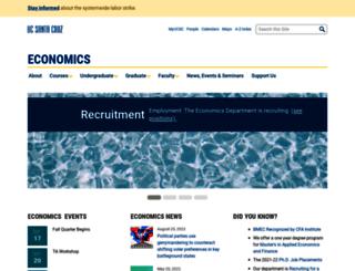economics.ucsc.edu screenshot