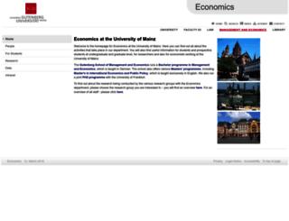 economics.uni-mainz.de screenshot