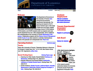 economics.utoronto.ca screenshot