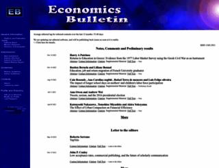 economicsbulletin.com screenshot