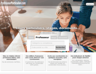 economie-monetaire.professeurparticulier.com screenshot