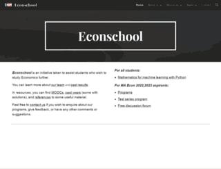 econschool.in screenshot