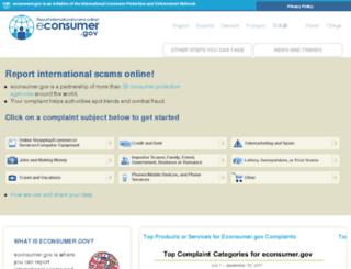 econsumer.ftccomplaintassistant.gov screenshot