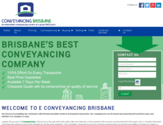 econveyancingbrisbane.com.au screenshot