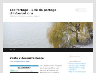 ecopartage.com screenshot