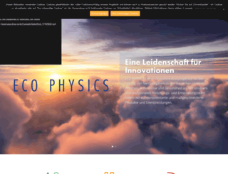ecophysics.de screenshot