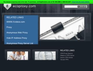 ecoproxy.com screenshot