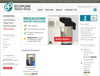 ecopurewatershop.com screenshot