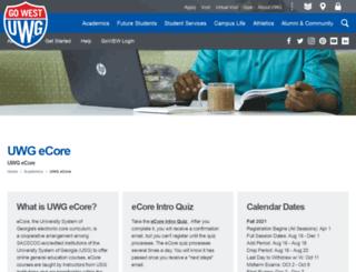 ecore.westga.edu screenshot