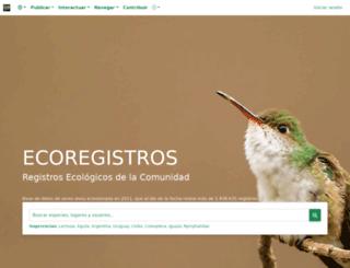 ecoregistros.org screenshot