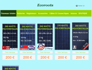 ecoroots.fr screenshot