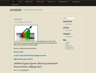 ecostat1.wordpress.com screenshot