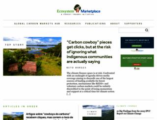 ecosystemmarketplace.com screenshot