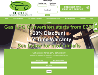 ecotecautogas.com screenshot