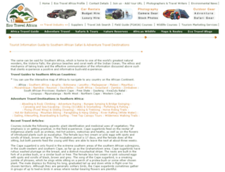 ecotravel.co.za screenshot