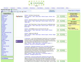 ecoupons.co.uk screenshot
