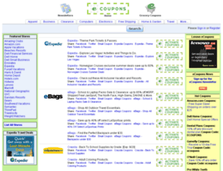ecoupons.com screenshot