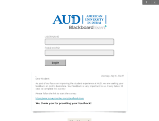 ecourses.aud.edu screenshot