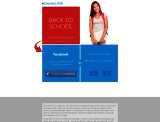 ecoursesusa.com screenshot