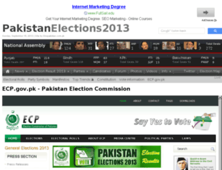ecp.pakistanelections.com.pk screenshot