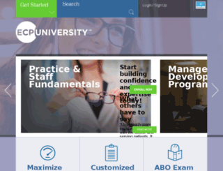 ecpuniversity.com screenshot