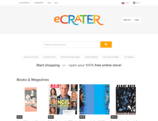 ecrater.com screenshot