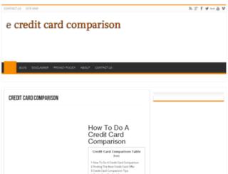 ecreditcardcomparison.com screenshot