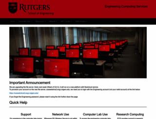 ecs.rutgers.edu screenshot