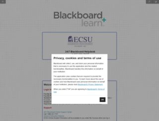 ecsu.blackboard.com screenshot
