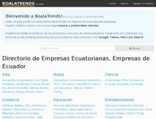 ecuador.koalatrends.com screenshot