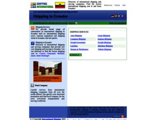 ecuador.shipping-international.com screenshot