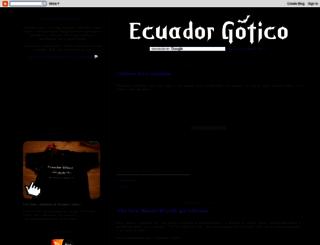 ecuadorgotico.blogspot.com screenshot
