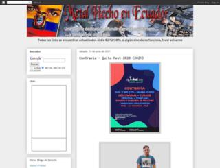 ecuadormetalero.blogspot.com screenshot