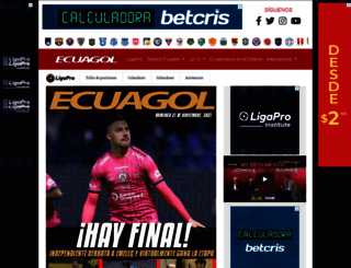 ecuagol.com screenshot