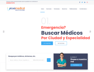 ecuamedical.com screenshot