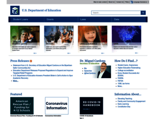 ed.gov screenshot