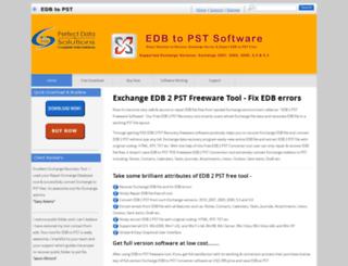 edb2pstfree.edbtopstsoftware.com screenshot