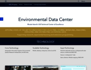 edc.uri.edu screenshot